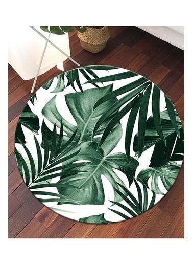 MarkaEv Tropical 12 Yuvarlak Halı  Yeşil
